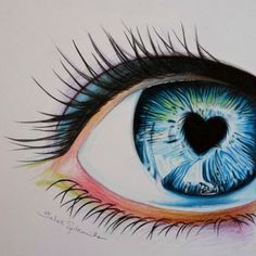 I love Miriam Galassi's artwork, so i wanted to try out myself. Hope you like it Colored pencil eye drawing Amazing Drawings, Beautiful Drawings, Cute Drawings, Drawing Sketches, Pencil Drawings, Amazing Art, Beautiful Images, Color Pencil Art, Eye Art