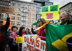 Protestos Contra o Golpe em New York - USA