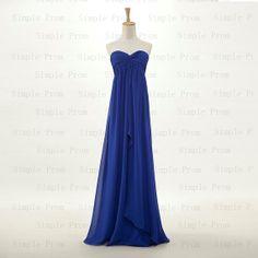 Custom A-line Sweetheart Floor-length Sleeveless Chiffon Pleated Long Prom Dress Bridesmaid Dress Formal Evening Dress Party Dress