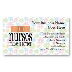 Nursing home care business card business cards and business nurses make it better bandage business card reheart Choice Image