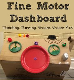 Fine Motor Activity DIY Dashboard for Kids from Lalymom #FineMotor #CraftsForKids