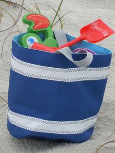 SailorBags Bucket Bag - tote to the beach or use for cottage decor.