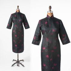 1950er Jahre Cheongsam Kleid: Vintage schwarz von missfarfalla