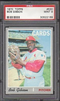 SUPERB 1970 TOPPS #530 BOB GIBSON CARDINALS PITCHER PSA 9 MINT BASEBALL CARD! by Topps. $1.11. SUPERB 1970 TOPPS #530 BOB GIBSON CARDINALS PITCHER PSA 9 MINT BASEBALL CARD!