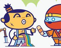 Samurai Doodles by DGPH by DGPH, via Behance