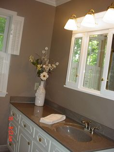 New Countertops And New Medicine Cabinet On A Vintage Vanity Made This  1940u0027s Bathroom Look Like