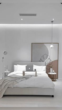 Room Design Bedroom, Small Room Bedroom, Room Ideas Bedroom, Home Room Design, Home Decor Bedroom, Art For Bedroom, Light Bedroom, Modern Grey Bedroom, Modern Bedroom Design