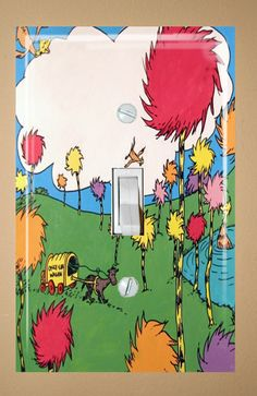 Custom Order 4 Dr Seuss Electrical Outlet Wall by SmittensDesigns, $28.00