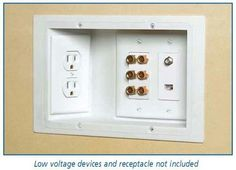 Recessed outlets to allow furniture to go flush against wall.