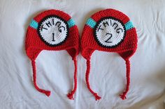 Thing 1 and Thing 2 Set by ThenaBoBina on Etsy, $25.00