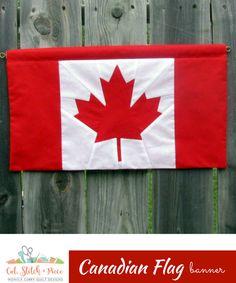 05bf2c7d74b CANADIAN FLAG BANNER Pattern