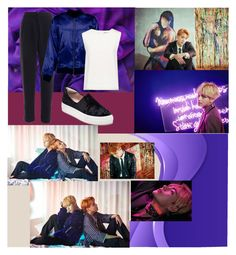 """""""BTS WINGS Concept Photos Jhope&V"""" by ninaxo17 ❤ liked on Polyvore featuring Boohoo, J/Slides and Finders Keepers"""