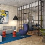Abstract Painting in Hi Tech Living Room