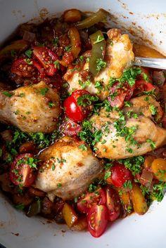 Cacciatore, Portobello, Fodmap, Couscous, Kung Pao Chicken, Ratatouille, Italian Recipes, Holiday Recipes, Slow Cooker
