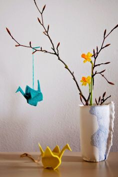 100 Decors Origami bird tutorial