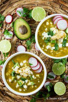 Chicken Tortilla Soup with Fresh Corn - Slender Kitchen