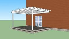 Diy article about garden pergola design ideas. Either you build a timber attached pergola or a modern patio pergola the design shoul fit your needs and tastes. White Pergola, Metal Pergola, Pergola With Roof, Wooden Pergola, Pergola Plans, Pergola Kits, Pergola Ideas, Patio Ideas, Patio Roof