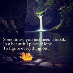 às vezes, você só precisa de uma pausa. em um lugar bonito. sozinho. para descobrir tudo