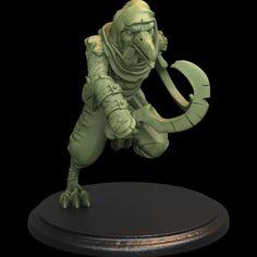 3D Printable Kenku/Raven Folk Eastern Assassin by TytanTroll Miniatures Assassin, Raven, Folk, Lion Sculpture, Miniatures, Printables, Statue, Models, 3d