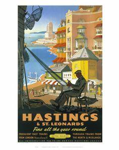 Hastings Basket Weaver on VintageRailPosters.co.uk Prints