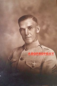 US Marine - no name on back of photo. Died in Los Angeles January 26th 1923 - age 32. Served 9 years in the Marine Corp. Abqpropguy Collection