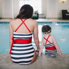 We love AlbionFit.com and their new line of Vintage Swimwear for women AND children. I seriously can't get enough of it!