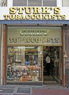 Sturks's Tobacconists. Storefront design