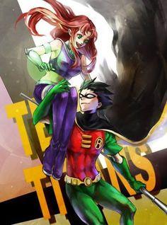 Robin & Starfire
