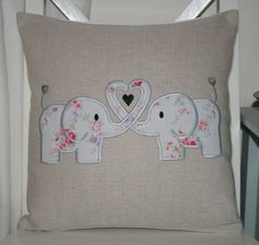 Laura Ashley Natural Austin Cushion Cover with Cath Kidston Elephant Applique | eBay