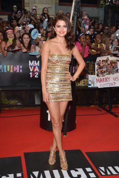 Selena Gomez wore a Roberto Cavalli dress in occasion of the Much Music Video Awards 2012 in Toronto. #SelenaGomez #RedCarpet