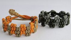 "How to Make a ""King Crown"" Zig Zag Trilobite Paracord Survival Bracelet ..."
