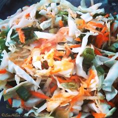 Cabbage, Spring Onions, Carrot, Celery, Apple and Grapefruit #Salad