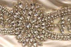 Cynthia crystal beaded wedding belt bridal by DreamcatcherStudio, $269.00