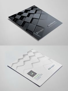 Brochure for a software development company, with silver hot stamp logo on cover. Chess concept with minimal design. Graphic Design Brochure, Brochure Design Inspiration, Brochure Cover, Brochure Layout, Brochure Template, Broucher Design, Presentation Board Design, Presentation Folder, Company Profile Design
