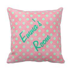 Personalized Kids Polka Dot Pillow
