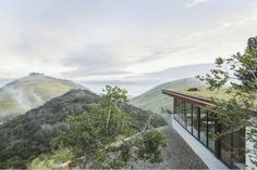 Off-grid guesthouse near Santa Barbara with green roof. Sustainable, low impact, coastal home.