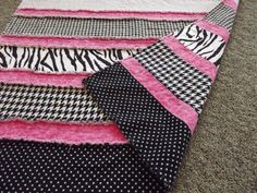baby girl rag quilt by Queenbeequilting on Etsy Hobbies To Try, Hobbies That Make Money, Diy Crafts And Hobbies, Girls Rag Quilt, Baby Blankets, Baby Quilts, Diy Clothes, Baby Items, Holiday Ideas
