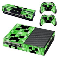 Minecraft xbox one vinyl skin decal for console and 2 controllers Minecraft Toys, Creeper Minecraft, Minecraft Bedroom Decor, Kids Toys For Boys, Xbox One Skin, Xbox One Console, Minecraft Birthday Party, Gamer Room, Pokemon