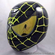 Black and yellow spidey helmet