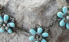 vintage-style flower necklace