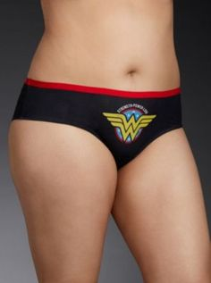 Wonder Woman Strength Power Love Hipster Panty in Purple