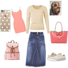 A fashion look from October 2015 by bizzybelle16 featuring BKE, Style J, Converse, Candie's, Betsey Johnson and Casetify