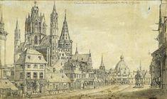 Op hun vlucht uit Stuttgart bezoeken Schiller en Streicher ook de Dom van Mainz Friedrich Von Schiller, Painting, Mainz, Stuttgart, Painting Art, Paintings, Painted Canvas, Drawings