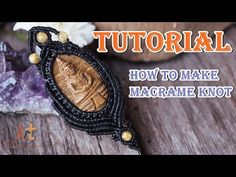 How to make a macrame knot pattern pendant carved buddha stone,Tutorial - YouTube