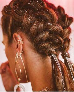 Coachella Makeup, Coachella Hair, Coachella Style, Cool Braid Hairstyles, Pretty Hairstyles, Festival Hairstyles, Beauty Society, Hair Day, Hair Inspiration