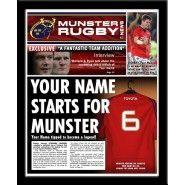 Munster Rugby Personalised Newspaper Munster Rugby, Personalised Football, Gifts For Football Fans, Newspaper, Names, Baseball Cards, Custom Football, Magazine