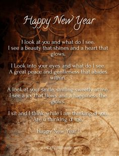 Happy New Year 2018 Quotes : QUOTATION – Image : Quotes Of the day – Description New Year Cute Love Poems for Girlfriend Sharing is Power – Don't forget to share this quote ! Happy New Year Love, Happy New Year Message, Happy New Year Quotes, Happy New Year Wishes, Happy New Year 2018, Quotes About New Year, Cute Couple Quotes, Cute Love Poems, Love Poem For Her