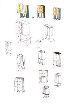 47 - Skizzen Schränkchen