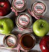... Caramel Sauce, Red Apples, Ice Cream, Salts Caramel Sauces, Christmas