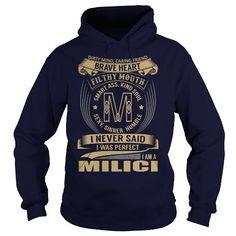 MILICI Last Name, Surname Tshirt